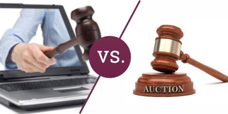 Traditionelle Auktion vs. Internet-Auktion