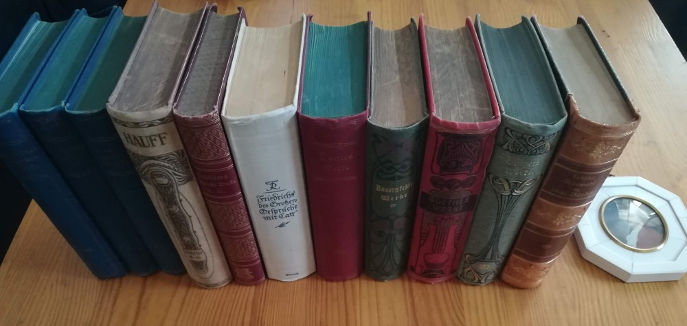 73 antike Bücher von ca. 1850 bis 1950