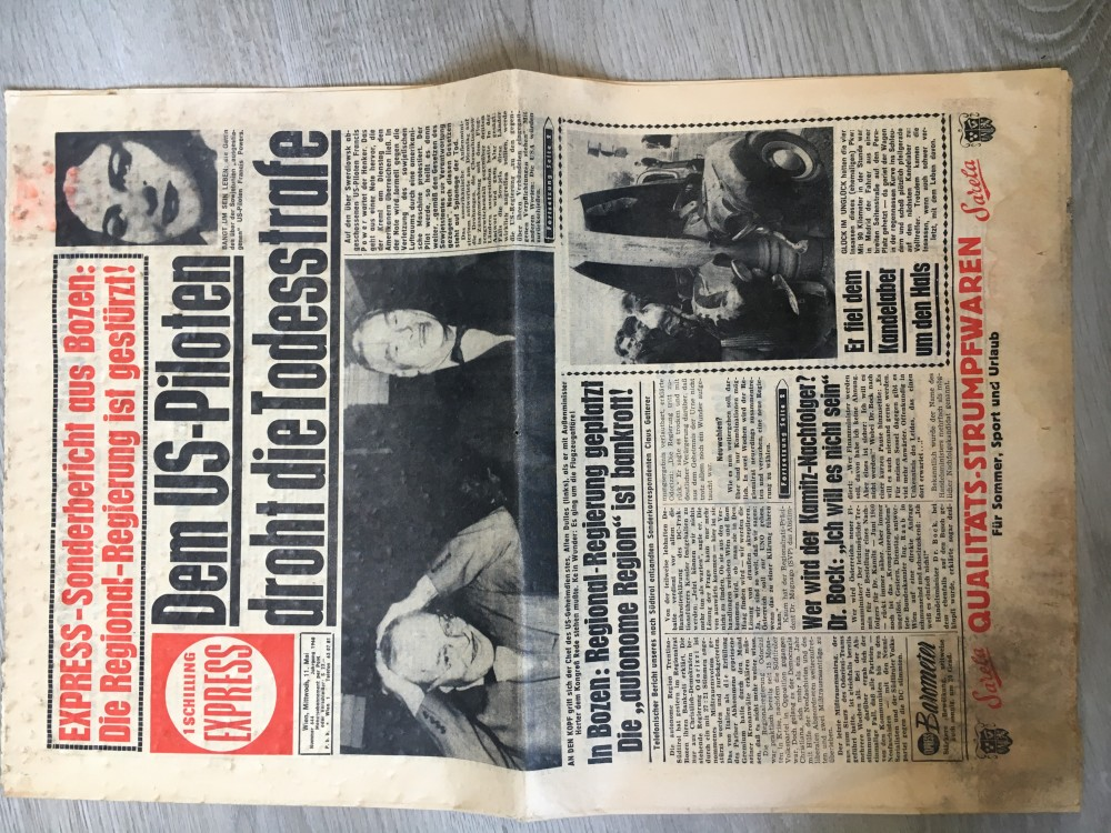 Österreichische Zeitung Express aus 1960