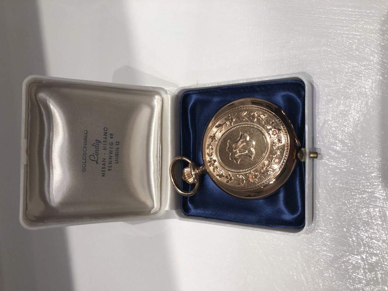 Taschenuhr aus 585er Gold