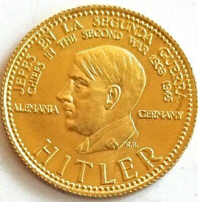 Gold-Münze aus der Serie Jefes en la segunda guerra II